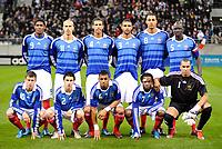 Fotball<br /> Frankrike v Slovenia U21<br /> Foto: DPPI/Digitalsport<br /> NORWAY ONLY<br /> <br /> FOOTBALL - UEFA EURO 2011 UNDER 21 - QUALIFYING ROUND - GROUP 8 - FRANCE U21 v SLOVENIA U21 - 17/11/2009 <br /> <br /> LAGBILDE FRANKRIKE ( BACK ROW LEFT TO RIGHT : ANTHONY MODESTE / GABRIEL OBERTAN / ETIENNE CAPOUE / SAMUEL SOUPRAYEN / STEVEN N'ZONZI / MAMADOU SAKHO . FRONT ROW : FRANCK TABANOU / SEBASTIEN CORCHIA / YANN MVILA / JIRES KEMBO EKOKO / KEVIN OLIMPA )