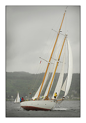 Day four of the Fife Regatta, race from Tighnabruaich to Portavadie<br /> Astor, Richard Straman, USA, Schooner, Wm Fife 3rd, 1923<br /> <br /> * The William Fife designed Yachts return to the birthplace of these historic yachts, the Scotland's pre-eminent yacht designer and builder for the 4th Fife Regatta on the Clyde 28th June–5th July 2013<br /> <br /> More information is available on the website: www.fiferegatta.com