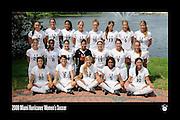 2008 Miami Hurricanes Women's Soccer Team Photo
