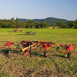 A hayfield in Hadley, Massachusetts.
