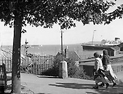 01/02/1957<br /> 02/01/1957<br /> 01 February 1957<br /> Dun Laoighaire Harbour and B and I Mail Boat. Ship possibly the Hibernia.