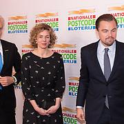 NLD/Amsterdam/20180215 - Goed Geld Gala 2018, Leonardo DiCaprio met directrice Nationale Postcode Loterij