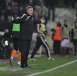 frustrated Wolverhampton Wanderer Manager, Kenny Jackett - Photo mandatory by-line: Alex James/JMP - Mobile: 07966 386802 11/03/2014 - SPORT - FOOTBALL - Swindon - County Ground - Swindon Town v Wolverhampton Wanderers - Sky Bet League One
