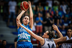 Tina Jakovina of Slovenia vs Martina Crippa of Italy during basketball match between Women National teams of Italy and Slovenia in Group phase of Women's Eurobasket 2019, on June 30, 2019 in Sports Center Cair, Nis, Serbia. Photo by Vid Ponikvar / Sportida