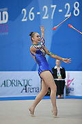 Kvieczynski Angelica during qualifying at clubs in Pesaro World Cup at Adriatic Arena on 27 April 2013. Angelica is a Brazilian individual rhythmic gymnast born on September 1, 1991 in Toledo, Brazil.