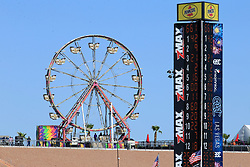 September 14, 2018 - Las Vegas, NV, U.S. - LAS VEGAS, NV - SEPTEMBER 14: A general view of a ferris wheel in the Turn 4 Turn Out of LVMS during practice for the DC Solar 300 NASCAR Xfinity Series Playoff Race on September 14, 2018, at Las Vegas Motor Speedway in Las Vegas, NV. (Photo by David Griffin/Icon Sportswire) (Credit Image: © David Griffin/Icon SMI via ZUMA Press)
