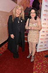 Left to right, HELEN LEDERER and LESLEY JOSEPH at the West End Eurovision in aid of MAD - The Make A Difference Trust held at the Dominion Theatre, 268-269 Tottenham Court Road, London on 22nd May 2014