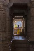 Inside Sheth Anandji Kalyanji Temple, Pali District, Rajasthan, India.