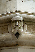 Detail of one of the 72 sculpted faces adorning the Cathedral of Saint Jacob (Sveti Jakova), Sibenik, Croatia. Sometimes also referred to as Cathedral of Saint James.