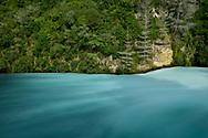 Oceania, New Zealand, Aotearoa, North Island, Taupo, Huka River at Huka Falls