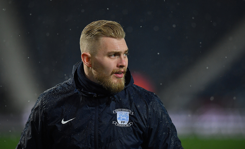 Preston North End's Connor Ripley <br /> <br /> Photographer Dave Howarth/CameraSport<br /> <br /> The EFL Sky Bet Championship - West Bromwich Albion v Preston North End - Tuesday 25th February 2020 - The Hawthorns - West Bromwich<br /> <br /> World Copyright © 2020 CameraSport. All rights reserved. 43 Linden Ave. Countesthorpe. Leicester. England. LE8 5PG - Tel: +44 (0) 116 277 4147 - admin@camerasport.com - www.camerasport.com