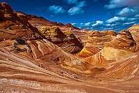 """""""The Wave"""", a 190 million year old Jurassic-age Navajo sandstone rock formation, Coyote Buttes North, Paria Canyon-Vermillion Cliffs Wilderness Area, Utah-Arizona border, USA"""