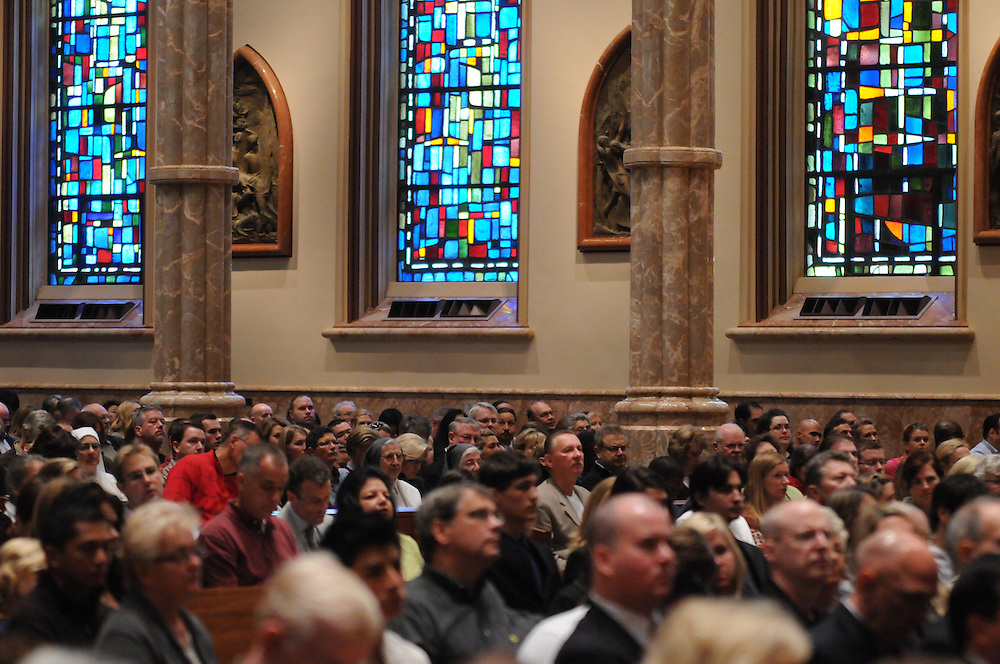 Members of Chicago's legal community are gathered with parishioners for the Catholic Lawyers Guild Annual Red Mass at Holy Name Cathedral, celebrated by Francis Cardinal George.