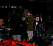 Alain de Cadenet  Celebration of Dunhill Motorities, Dunhill, 48 Jermyn St. London. 19 May 2005. ONE TIME USE ONLY - DO NOT ARCHIVE  © Copyright Photograph by Dafydd Jones 66 Stockwell Park Rd. London SW9 0DA Tel 020 7733 0108 www.dafjones.com