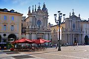 Turin, Piedmont/Italy - 07/08/2018- San Carlo square