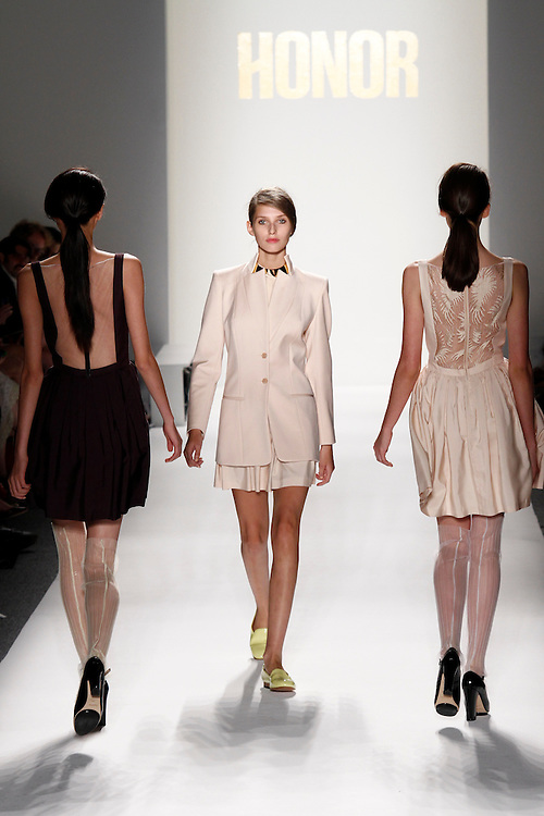 Models walk the runway for  Spring 2012 fashion show during New York Fashion Week, NYC, NY, USA.