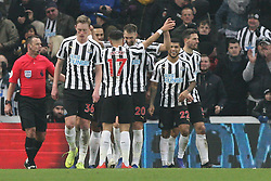 January 19, 2019 - Newcastle, England, United Kingdom - Newcastle United's Ayoze Perez  celebrates after scoring his side's third goal during the Premier League match between Newcastle United and Cardiff City at St. James's Park, Newcastle on Saturday 19th January 2019. (Credit Image: © Mark Fletcher/NurPhoto via ZUMA Press)