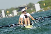 Munich, GERMANY, GBR W2X . Bow  Elise LAVERICK and Sarah WINCKLESS. At the start, during the FISA World Cup at the Munich Olympic Rowing Course, Thur's.  08.05.2008  [Mandatory Credit Peter Spurrier/ Intersport Images] Rowing Course, Olympic Regatta Rowing Course, Munich, GERMANY