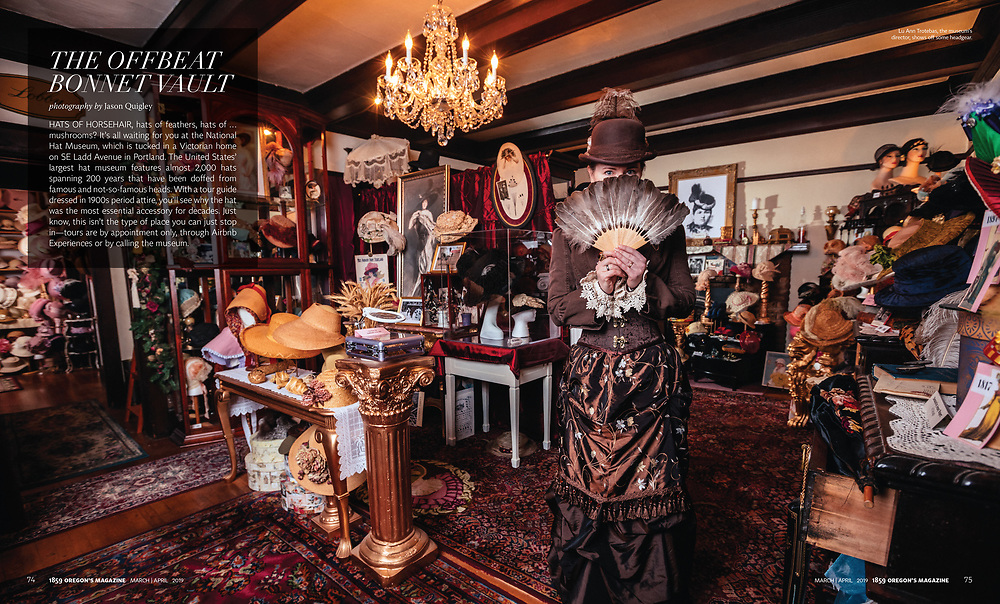 The National Hat Museum for 1859 Magazine, March/April 2019