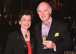 MR & MRS ANTON MOSIMANN, he is the leading chef, at a party in London on 19th March 1998.MGD 33