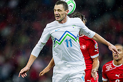 Milivoje Novakovic of Slovenia during FIFA World Cup 2014 Group E qualification match between Switzerland and Slovenia on October 15, 2013 in STADE DE SUISSE, Bern, Switzerland. Switzerland defeated Slovenia 1-0 and Qualified for World Cup Brasil 2014. (Photo by Vid Ponikvar / Sportida)