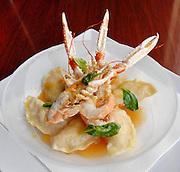 Crab and dumplings