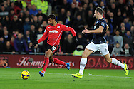 Cardiff city's Fraizer Campbell scores his sides 1st goal. Barclays Premier League match, Cardiff city v Manchester Utd at the Cardiff city stadium in Cardiff, South Wales on Sunday 24th Nov 2013. pic by Andrew Orchard, Andrew Orchard sports photography,