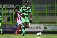 Forest Green Rovers Destiny Oladipo(9) runs forward during the FA Youth Cup match between U18 Forest Green Rovers and U18 Cheltenham Town at the New Lawn, Forest Green, United Kingdom on 29 October 2018.