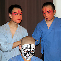 Asia, China, Beijing. Backstage at the Beijing opera