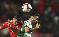 February 7, 2019 - Na - Lisbon, 06/02/2019 - SL Benfica received this evening the Sporting CP in the Stadium of Light, in game the account for the first leg of the Portuguese Cup 2018/19 semi final. Gabriel and Bruno Fernandes  (Credit Image: © Atlantico Press via ZUMA Wire)