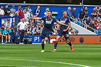 Football - 2021/2022  Sky Bet EFL Championship - Queens Park Rangers vs Millwall - Kiyan Prince Foundation Stadium - Saturday 7th August 2021.<br /> <br /> Jed Wallace (Millwall FC) runs the length of the pitch to celebrate after scoring his teams opening goal of the match and season<br /> <br /> COLORSPORT/DANIEL BEARHAM