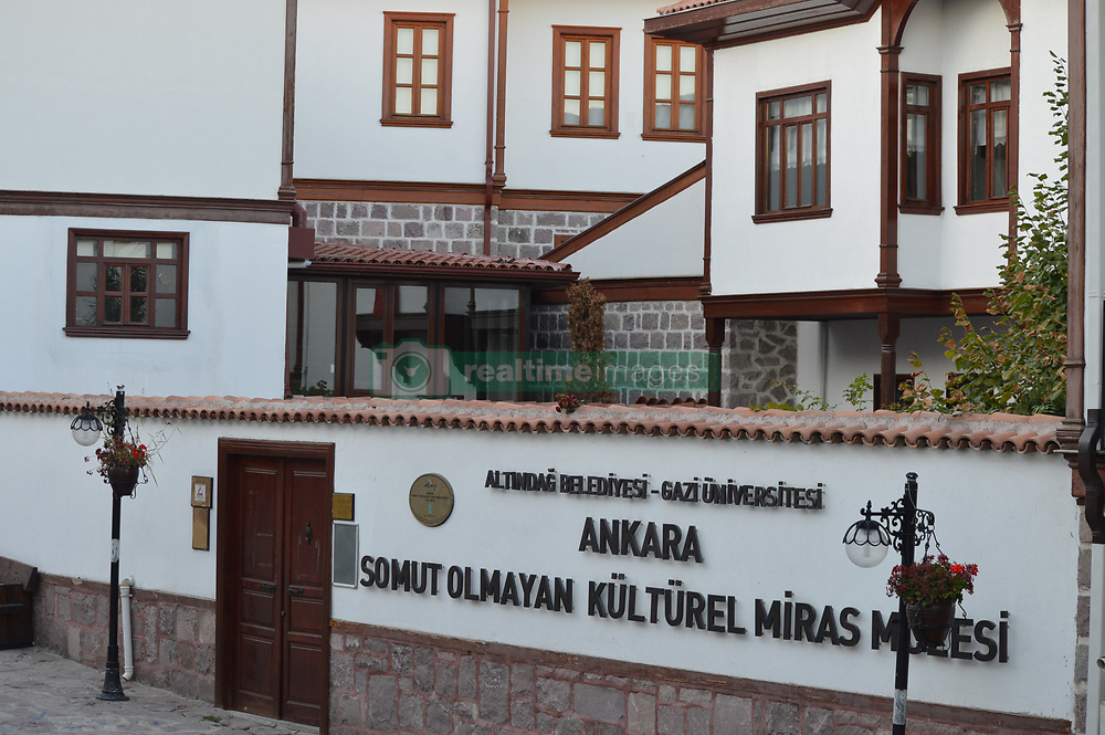 September 7, 2017 - Ankara, Turkey - An outside view of the Intangible Cultural Heritage Museum (SOKUM) is pictured in the historic Hamamonu district of Ankara, Turkey on September 07, 2017. Hamamonu is a historic district with the 19th-century architecture examples as the houses were renovated to revive the district. Hamamonu is a famous spot for tourists to walk through the narrow traditional streets, to have a traditional breakfast, to sip Turkish coffee, or to visit museums in a historic wooden house. (Credit Image: © Altan Gocher/NurPhoto via ZUMA Press)