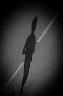 France . Paris. people shadow in the street, paris / ombres des passants dans les rues de Paris