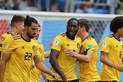 July 14, 2018 - St. Petersburg, Russia - July 14, 2018, St. Petersburg, FIFA World Cup 2018, Football match for the third place in the World Cup. Football match of Belgium - England at the stadium of St. Petersburg. Player of the national team Thomas Meunier; Goal; joy; victory. (Credit Image: © Russian Look via ZUMA Wire)