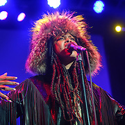 SILVER SPRING, MD - February 15, 2015 - Erykah Badu performs at the Fillmore Silver Spring in Silver Spring, MD. Badu is currently working with producer and electronic musician Flying Lotus on her sixth studio album. (Photo by Kyle Gustafson / For The Washington Post)