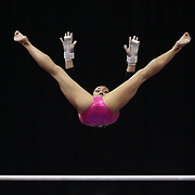 Kyla Ross, Aliso Viejo, California, in action on the Uneven Bars during the Senior Women Competition at The 2013 P&G Gymnastics Championships, USA Gymnastics' National Championships at the XL, Centre, Hartford, Connecticut, USA. 15th August 2013. Photo Tim Clayton