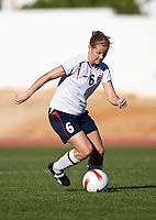 Marie Knutsen. Norway - China. Algarve Cup, Albufeira, Portugal 7-3-2008. Photo: Jussi Eskola