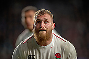 Twickenham, United Kingdom, Saturday, 9th March 2019,  RFU, Rugby, Stadium, England,  Eye's on the line out ball, Brad SHIELDS, during the Guinness Six Nations match, England vs Italy, © Peter Spurrier
