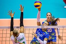 22-08-2017 NED: World Qualifications Slovenia - Bulgaria, Rotterdam<br /> Bulgaria win 3-1 against Slovenia / Sasa Planinsec #18 of Slovenia<br /> Photo by Ronald Hoogendoorn / Sportida