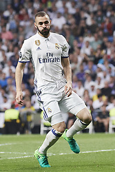 May 2, 2017 - Madrid, Spain - Karim Benzema (forward; Real Madrid) watched the Champions League, semifinal match between Real Madrid and Atletico de Madrid at Santiago Bernabeu Stadium on May 2, 2017 in Madrid, Spain (Credit Image: © Jack Abuin via ZUMA Wire)