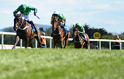 Fusil Raffles and Daryl Jacob win the ES Champion Four Year Old Hurdle during day five of the Punchestown Festival at Punchestown Racecourse, County Kildare, Ireland.