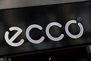 Sign for clothes shop Ecco.