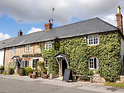 Historic village pub The Queen's Head, Broad Chalke, Cranborne Chase, Wiltshire, England, UK