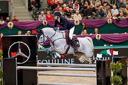 STAUT Kevin (FRA), Fleurbelle N<br /> Leipzig - Partner Pferd 2018   <br /> Equiline Youngster Cup Finale für 8 jährige Pferde<br /> © www.sportfotos-lafrentz.de/Stefan Lafrentz