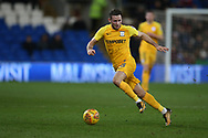 Alan Browne of Preston North End in action. EFL Skybet championship match, Cardiff city v Preston North End at the Cardiff city stadium in Cardiff, South Wales on Friday 29th December 2017.<br /> pic by Andrew Orchard, Andrew Orchard sports photography.