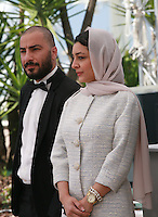 Actor Navid Mohammadzadeh, actress Sareh Bayat, at the Nahid film photo call at the 68th Cannes Film Festival Sunday May 17th 2015, Cannes, France.