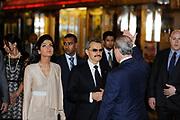 Saudi Princess Amira, Prince Alwaleed Bin Talal Bin Abdul Aziz Alsaud at the opening of the Savoy hotel, London.