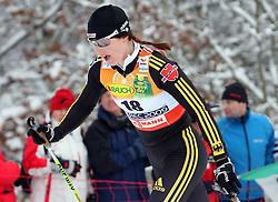 Katrin Zeller of Germany at Ladies` Pursuit 7,5 km Classic + 7,5 km Free at FIS Nordic World Ski Championships Liberec 2008, on February 21, 2009, in Vestec, Liberec, Czech Republic. (Photo by Vid Ponikvar / Sportida)