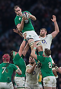 Twickenham. Great Britain.<br /> Devin TONER, collect a clead catch in the lineout, during the  RBS Six Nations Rugby, England vs Ireland at the RFU Twickenham Stadium. England.<br /> <br /> Saturday  27/02/2016. <br /> <br /> [Mandatory Credit; Peter Spurrier/Intersport-images]