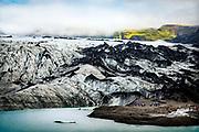 Glacier, Mýrdalshreppur, Iceland, near village of Vik, Iceland.